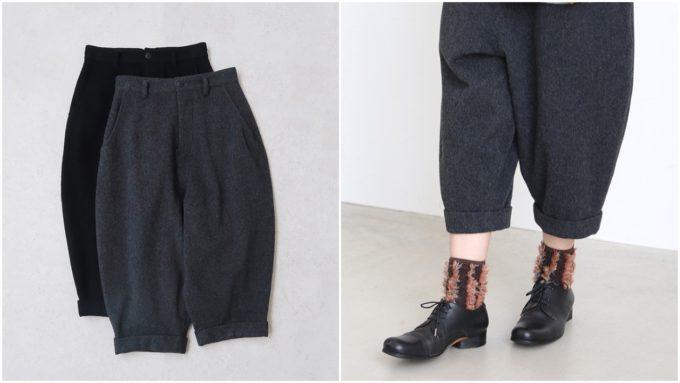 大人女子におすすめ、「susuri ススリ」の着やせ効果のある短め丈パンツ