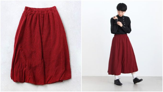 大人女性におすすめの「susuri ススリ」のロングスカート