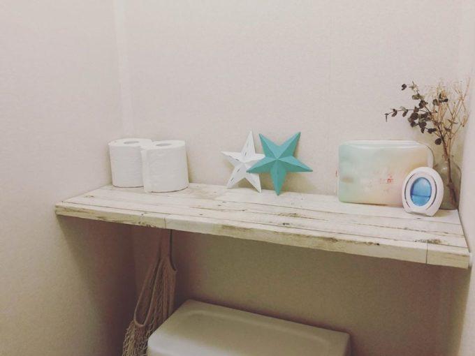 トイレをおしゃれにする、簡単DIY収納棚