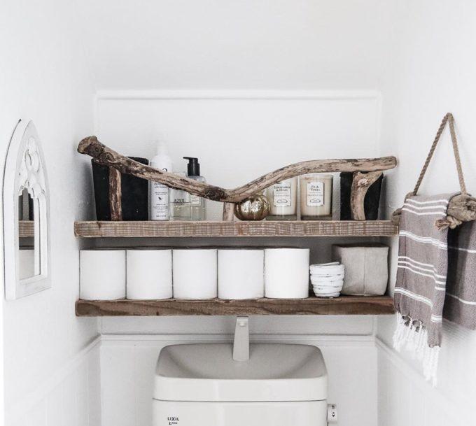 トイレのおしゃれする、収納インテリア実例