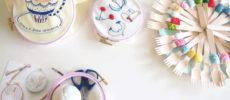 糸で絵を描くように一針一針。お茶を片手に刺繍の時間を楽しむ「刺繍CAFE」