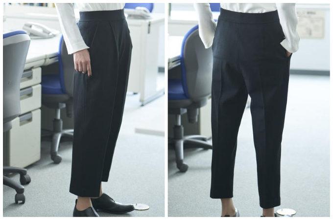 働く女性におすすめ「KNITOLOGY(ニットロジー)」の仕事服、「 Tapered Pants (テーパードパンツ)」
