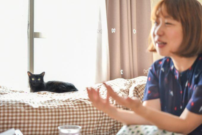 人形洋服作家・ナナノフさんと愛猫2