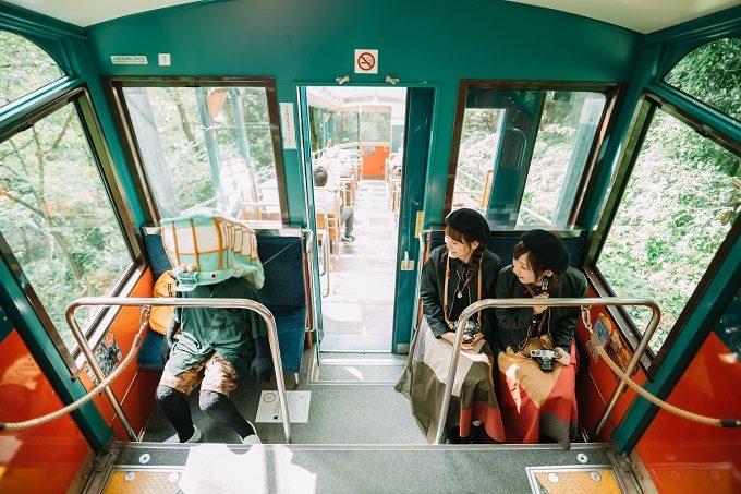 「六甲ミーツ・アート 芸術散歩2019」、六甲ケーブル車内
