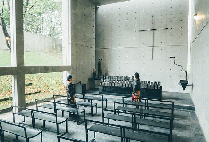 「六甲ミーツ・アート芸術祭」のフォトスポット、「風の教会」