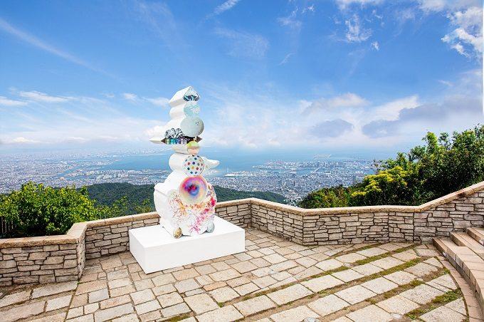 「六甲ミーツ・アート芸術祭」のフォトスポット、「六甲ガーデンテラス」