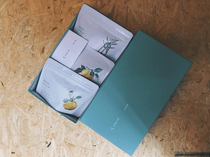厳選した茶葉を独自の配合で組み合わせた「茶と今日。」のティーバッグのおしゃれなパッケージ2