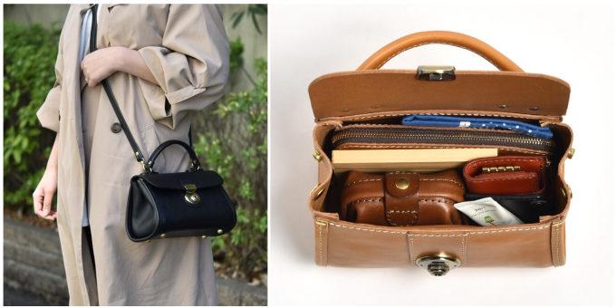 職人が一つひとつ丁寧に作る「HERZ」の革のハンドバッグ「プチミニョン」