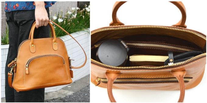 職人が一つひとつ丁寧に作る「HERZ」の革のハンドバッグ「レディースハンドショルダー」