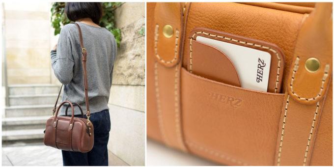 職人が一つひとつ丁寧に作る「HERZ」の革のハンドバッグ「2wayミニボストンショルダー」