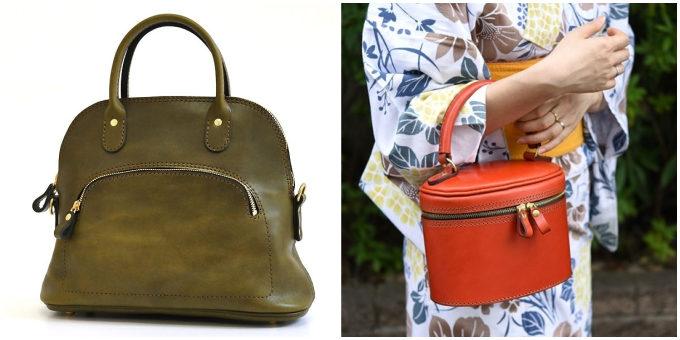 職人が一つひとつ丁寧に作る「HERZ」の革のハンドバッグ、カラーバリエーション
