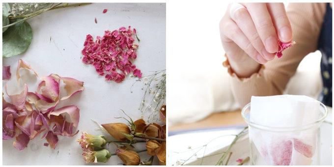 草木染めアクセサリーブランド「Kahon」がお客さんの思い出の花から色素を採る工程
