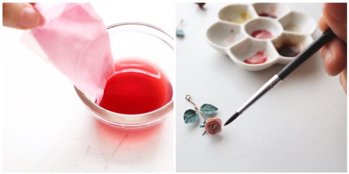 草木染めアクセサリーブランド「Kahon」がお客さんの思い出の花から採った色素で布を染める工程