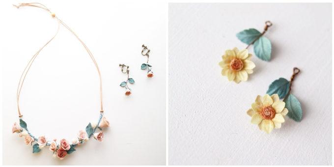 草木染めアクセサリーブランド「Kahon」がお客さんの思い出のお花から作ったネックレスやピアス