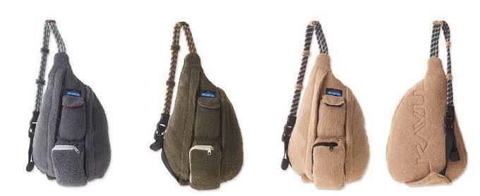 「KAVU(カブー)」のフリース素材のワンショルダーバッグ カラー展開