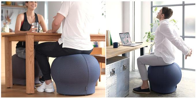 椅子に座る感覚で体幹が鍛えられるバランスボール「MAROOMS」3
