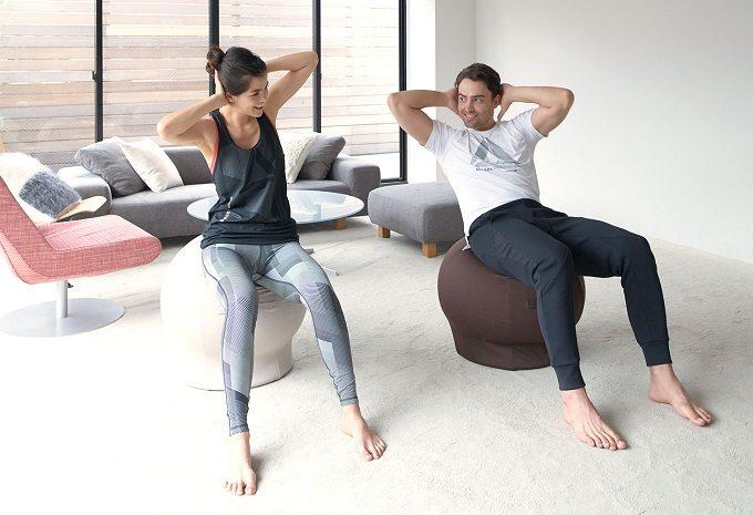 椅子に座る感覚で体幹が鍛えられるバランスボール「MAROOMS」4