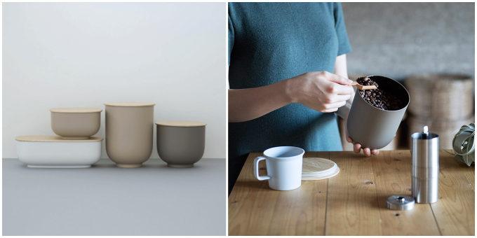 伝統的な漆器のお椀をもとにデザインされた「STORE」の多目的容器