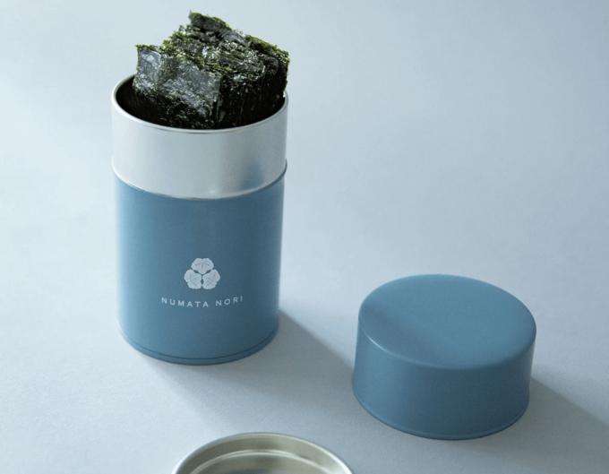 オリジナルの海苔缶に入った「海苔缶 鹿島第二壱◯2」