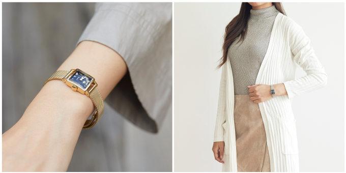 「Rosemont(ロゼモン)」のブラックの文字盤が印象的な新作腕時計 ゴールドとシルバー