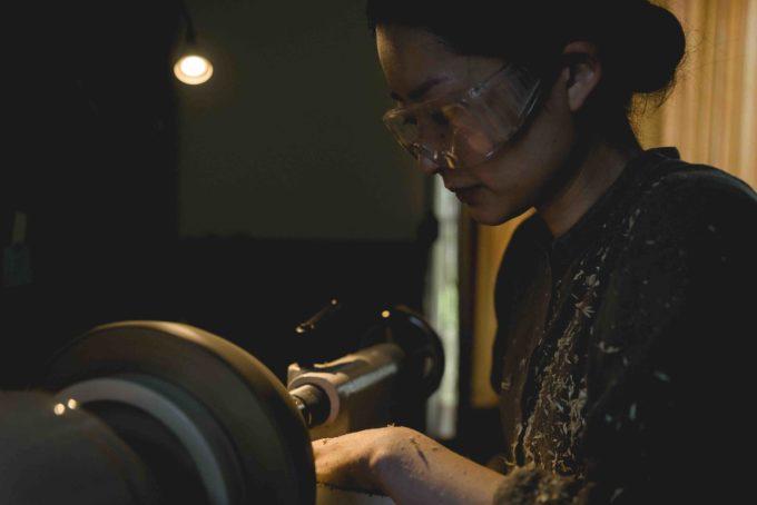 木工作家・高橋綾子さんの制作の様子3