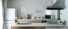 整理収納コンサルタント・瀧本真奈美さんの、すっきりと片づいたキッチン