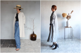 美しいシルエットが魅力。1枚で洗練された印象になる、「tsu tsu mu」の羽織りアイテム