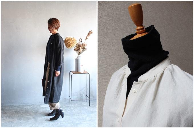 秋におすすめの「tsu tsu mu(つつむ)」の羽織物アイテム、ワンピース