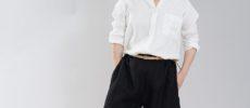 秋冬にはあたたかく着られる「wafu」の上質なリネンのトップス1
