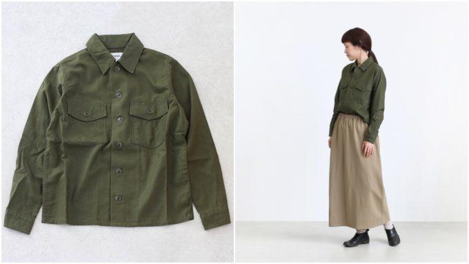 大人女子の冬におすすめの「YAECA ヤエカ」のシャツ