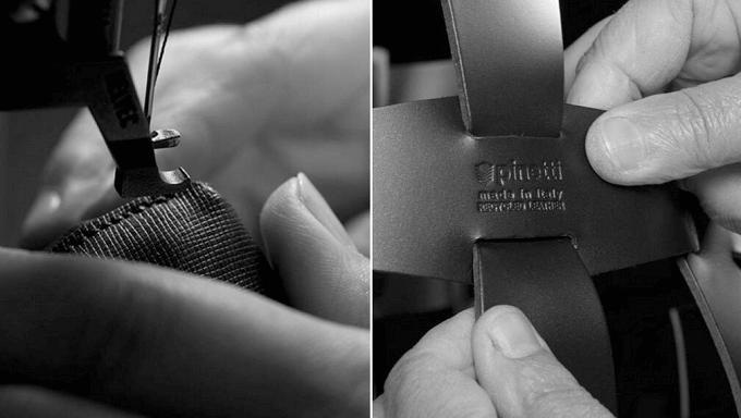 「Pinetti(ピネッティ)」の革製バスケットの制作行程