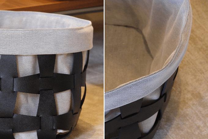 「Pinetti(ピネッティ)」の革製バスケット