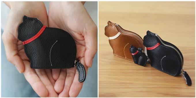革小物ブランド「Ad maiora! Designare(アドマイオーラデジナーレ)」のお座り子猫のコインケース