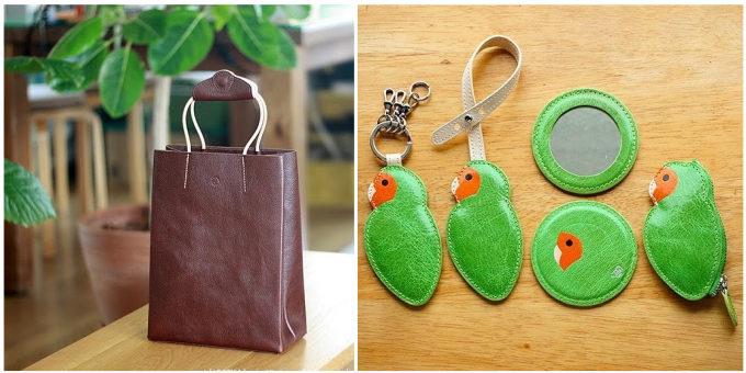 革小物ブランド「Ad maiora! Designare(アドマイオーラデジナーレ)」のシンプルなバッグやインコモチーフの小物