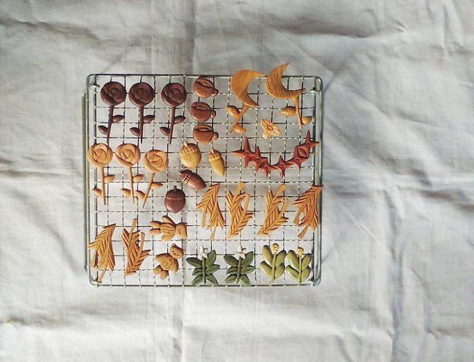 木製ブローチのブランド「ao11(アオジュウイチ)」の、植物や動物などさまざまな形のブローチ2