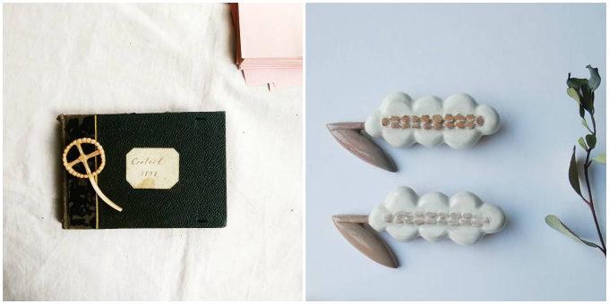 木製ブローチのブランド「ao11(アオジュウイチ)」の草花をイメージしたブローチ
