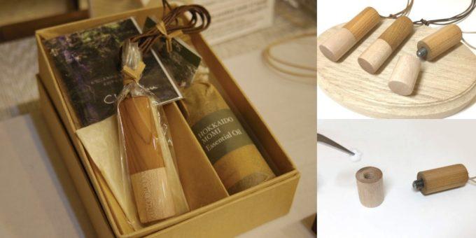 札幌の木工クラフト工房「チエモク」の手作りの木の小物