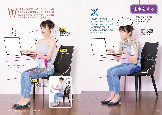 座っているときの正しい姿勢のページの写真