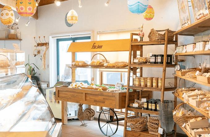 新潟のお菓子屋さん「フェルエッグ」の店内の様子