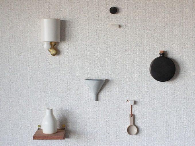 「風景を生む陶器」をテーマに制作をする作陶家の福山菜穂子さんの壁掛け花器