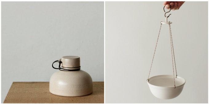 「風景を生む陶器」をテーマに制作をする作陶家の福山菜穂子さんの蓋ものや器
