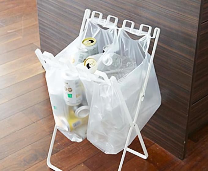 キッチンにおすすめのゴミ箱、山崎実業 のゴミ袋&レジ袋スタンド