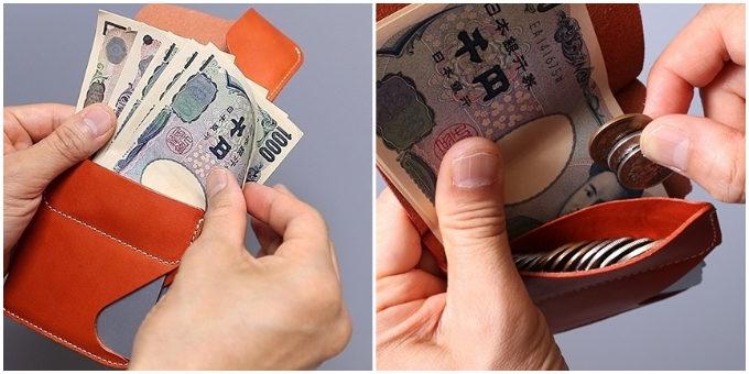 小銭もお札もカードも取り出しやすいコンパクト財布「JITAN」