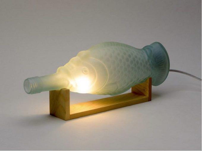 木材やガラスを使用した器や照明を作る「kico-kico.works」の空き瓶をリサイクルしたランプci-e-p