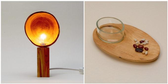 「kico-kico.works」の木材やガラスを使用した照明や器