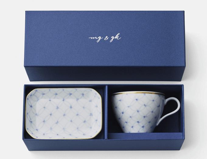 「mg&gk(もぐとごく)」のカップとプレートのギフトボックス