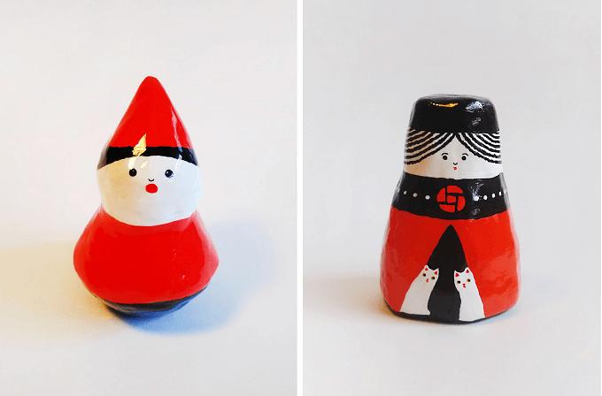 村田恵理さんのかわいいクリスマス風張り子