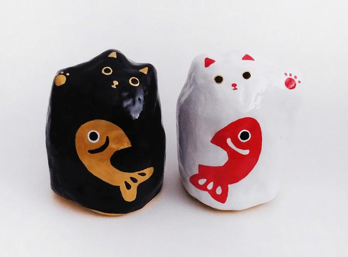 村田恵理さんの縁起物招き猫張り子
