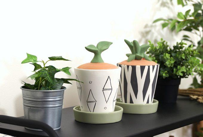 「Onlili(オンリリ)」の陶器エコ加湿器 多肉植物型2種
