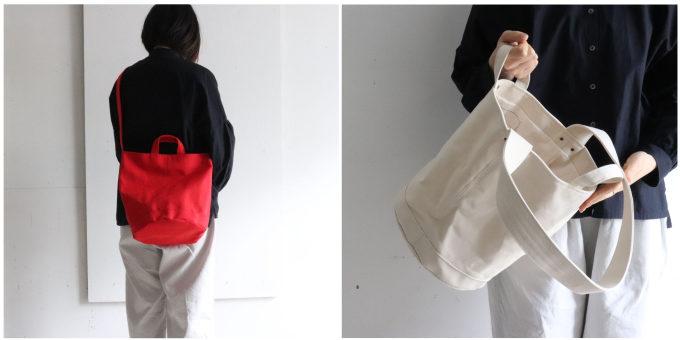 カジュアルすぎず大人っぽい「pas de deux(パドドゥ)」のバケツのような「Bucket 2way」バッグ